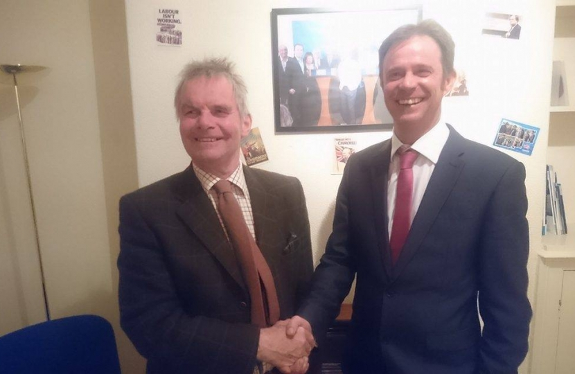 New Conservative Cllr Dan McNally with County Council Leader Cllr Martin Hill OBE